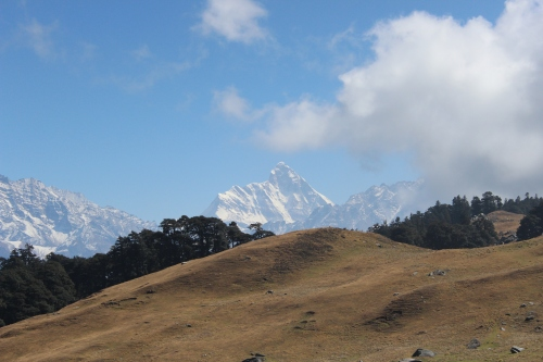 Nanda Devi, second highest peak in India reaching 7,816 meters.