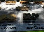 Olika snacks gjort på Millets
