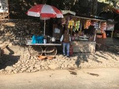 Mohan med sitt Tea Stall