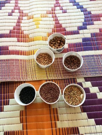 Olika milletsfrön från en av gårdarna