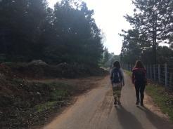 Heidi och Dilan på vår väg till Keystone