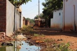 En vanlig gata på landsbygden i Indien